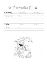 English Worksheet: Handwriting: The weather (1)