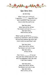 que sera lyrics