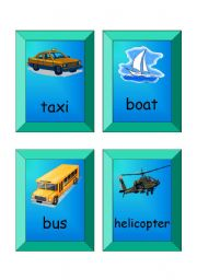 English Worksheet: flashcards - SET 2 (transport)