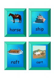 English Worksheet: flashcards - SET 3 (transport)
