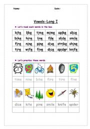 Long Vowel Sound Esl Worksheet By Ggoma123