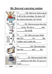 English Worksheet: Morning routine worksheet