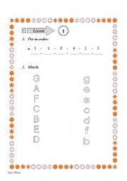 English worksheet: Numbers and Letters