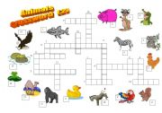 English Worksheet: Animals crossword (2/2)