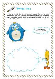 English Worksheets: Writing time