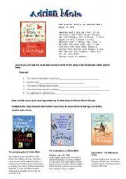 English Worksheet: Adrian Mole