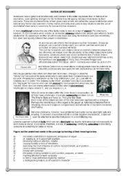 English Worksheets: Nation of Nicknames - reading comprehension (3)