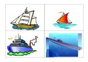 English Worksheet: flashcards transports