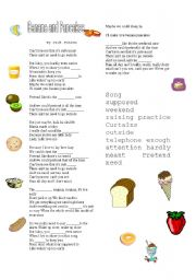 English worksheet: bananas and pancakes
