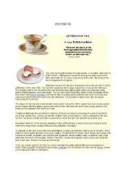 English Worksheet: Bristish Afternoon Tea