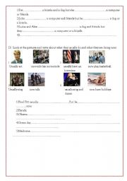 English worksheet:  second part test for beginners