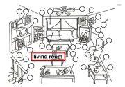 English Worksheet: LIVING ROOM -