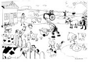 English Worksheets: Animals in the Farm