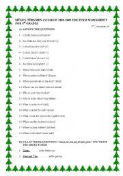 English Worksheets: Easy worksheet