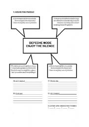 English worksheet: enjoy the silence