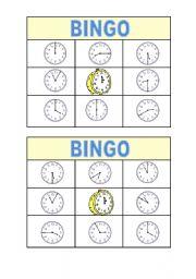 English Worksheet: Bingo Time