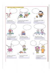 English Worksheets: what did they exactly say?