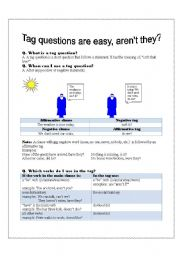 English Worksheets: Tag Questions are easy, aren�t they?