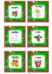 xmas flash cards: