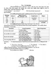 English Worksheets: yes-no question
