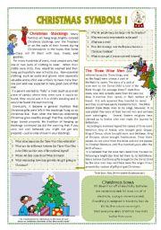 christmas symbols i esl worksheet by mmargalef. Black Bedroom Furniture Sets. Home Design Ideas