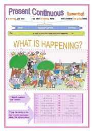 English Worksheets: PRESENT CONTINUOUS OR PROGRESSIVE