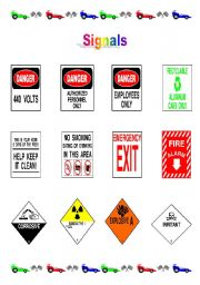 English Worksheets: SOME INFORMATION SIGNS - PART 1-1