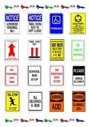 English Worksheets: SOME INFORMATION SIGNS - PART 3-3