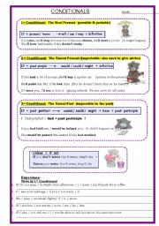 English Worksheet: Conditionals: 1st, 2nd, 3rd type