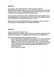 English Worksheet: Role Play