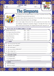 English Worksheets: the simpsons