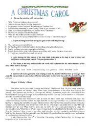 English Worksheet: A Christmas Carol