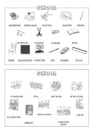 School mini-dictionary (B&W)