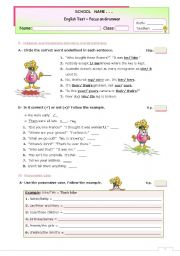 English Worksheet: GRAMMAR TEST for Advanced or Upper Intermediate Students