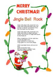English Worksheets: Jingle Bell Rock
