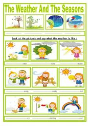 english worksheets the weather and the four seasons. Black Bedroom Furniture Sets. Home Design Ideas