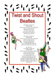 English Worksheet: Ice Breaker Activity - Twist and Shout - Beatles (2 pages)
