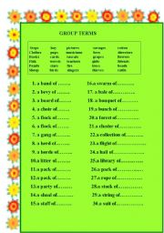 English Worksheets: GROUP TERMS