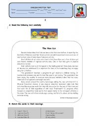 English Worksheets: THE NEW GYM