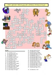 English Worksheets: The Great Irregular Verbs Challenge