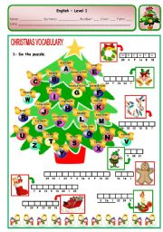 English Worksheet: CHRISTMAS PUZZLE - PAGE 2