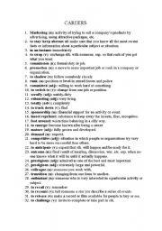 English Worksheet: careers
