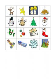 English worksheet: Noughts and crosses on Christmas