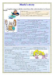 English Worksheets: Mark�s story