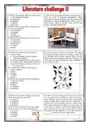 Literature challenge 2