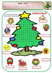 English Worksheet: CHRISTMAS PUZZLE - PAGE 3