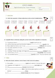 English Worksheet: Grammar TEST for Advanced students or Upper Intermediate