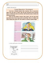 English Worksheets: Beauty contest