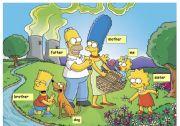 English Worksheet: simpsons family