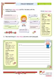 English worksheet: Pre-writing + writing activity for elementary or lower intermediate students